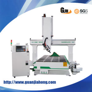Wookworking Machine, Hsd Spindle, Auto Tool Change, 180 Degree Rotary Engraving 4 Axis Machining Center, CNC Router Machine pictures & photos