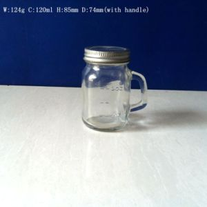 120ml Glass Mason Jar with Handle pictures & photos