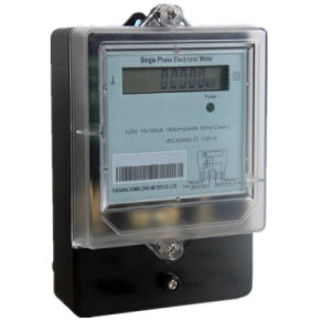 Long Terminal Cover IP54 Window Single Phase Electronic Energy Meter pictures & photos