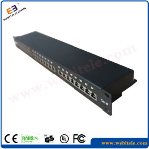 "19"" 1u Toolless Horizontal Version CAT6 UTP Patch Panel pictures & photos"