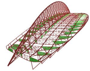 Steel Structure Roof/145 Meter Span (BR000252)