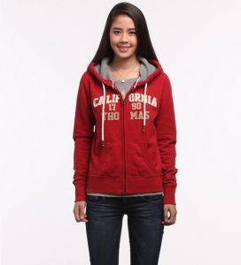 Printed Zipper Women Cotton Hoodies pictures & photos