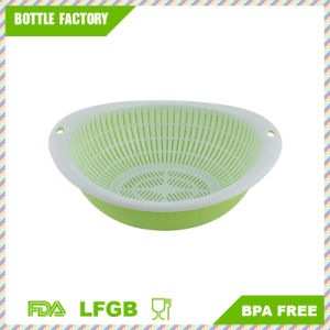 Kitchen Oval Shaped Fruit Vegetable Basket Container Colander Green pictures & photos