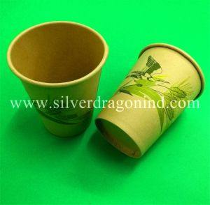 Custom Beautiful Printed Biodegradable Compostable Disposable Paper Cup 200ml pictures & photos