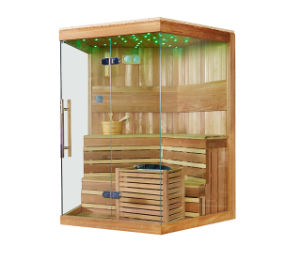 3-5 Person Single Door Wooden Dry Sauna Room (M-6037) pictures & photos