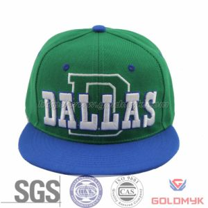 Simple Embroidery Snapback Cap (GKA15-F00007) pictures & photos