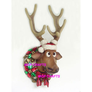 Fiberglass Funny Christmas Large Reindeer Head pictures & photos