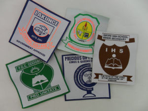 High Quality Custom Design School Patches Woven pictures & photos