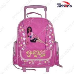 Back to School Cute Girl Rolling Bag with Wheels pictures & photos