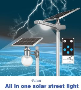 9W 12VDC LED Solar Garden Street Light All in One pictures & photos