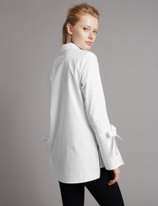 Pure Cotton Poplin Long Sleeve Shirt by China Manufactory pictures & photos