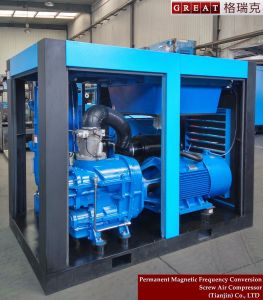 Two Stage Compression Rotary Screw  Air Compressor with Pm Motor pictures & photos
