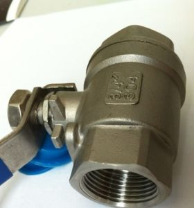 NPT Threaded Ball Valve (Stainless Steel 304 2PCS PN25) pictures & photos
