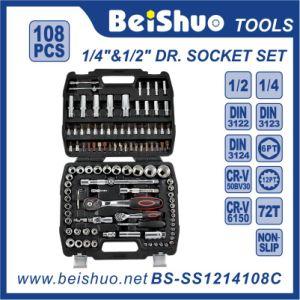108PC 1/4′′ & 1/2′′ Socket Set pictures & photos
