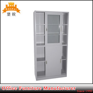 Half Glass Sliding Door Metal Office Medical Hospital File Storage Filing Cabinet Cupboard pictures & photos