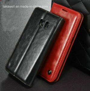 2016 Best Selling Flip PU Leather Case for Samsung Galaxy S5 S6 S7 Cell Phone Cover Case pictures & photos
