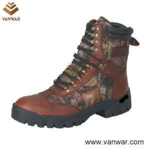 Unisex Tumbled Leather Waterproof Hunting Boots (WHB007) pictures & photos