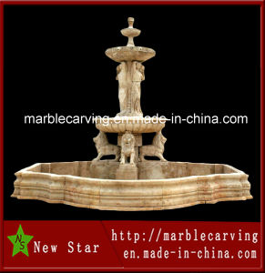 Egypt Beige Marble Stone Carving Fountain for Decoration pictures & photos
