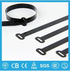 Stainless Steel Cable Ties- Ball-Lock Semi-Polyester Coated Ties Free Sample pictures & photos