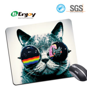 Design Natural Eco Rubber Durable Computer Mouse Pads for Gift pictures & photos