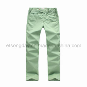 Grass Green Cotton Spandex Men′s Trousers (PMS125) pictures & photos