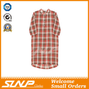 Women′s Cotton Plaid Half Sleeve Flannel Clothing