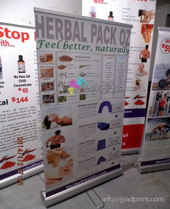 Wholesale Cheap Retractable Two Side Advertising Roll/ Pop Up Banne Stand pictures & photos