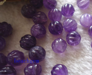 Jewelry Parts-Natural Amethyst Carved Beads pictures & photos