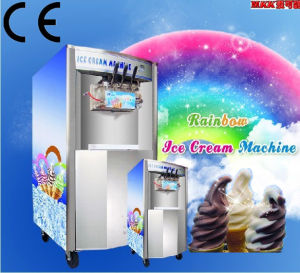 New Technology Stainless Steel Three Flavor Soft Ice Cream Machine pictures & photos