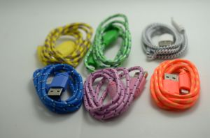 Colorful Weave Ligthning USB Data Charger Cable for iPhone6, iPad, Ipadmini pictures & photos