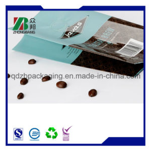 Aluminum Foil Side Gusset Coffee Bean Zipper Packing Bag with Valve pictures & photos