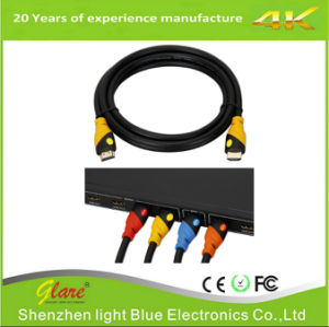 HDMI 2.0V Cable Support 4k*2k/60Hz Yellow/Black Color pictures & photos