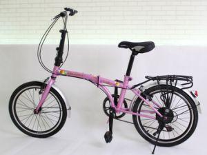 20 Inch 6 Speed Aluminium Alloy Folding Bike for Women (YK-FB-015)