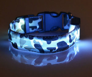 High Quality Camouflage Print USB Rechargeable Glowing Dog Collar