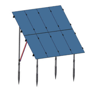 Solar Panel Mounting Bracket with Ground Screw China Factory Supply pictures & photos