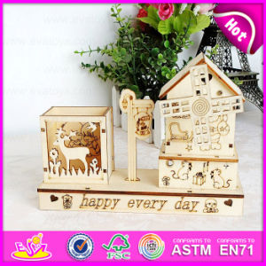 2015 Novelty Carved Wooden Puzzle Music Box with Pen Holder, High Quality Wooden Music Box for Decoration W02A030 pictures & photos