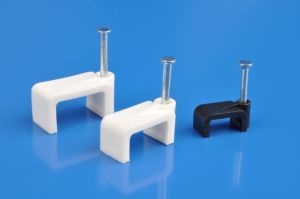 Flat Cable Clips (8MM, HDPE, NAIL CARBON STEEL) pictures & photos