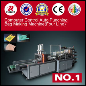 Four Line Double Punching Bag Making Machine pictures & photos