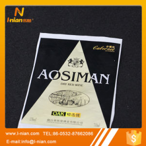 Custom Printing Plastic Film Wine Bottle Sticker pictures & photos