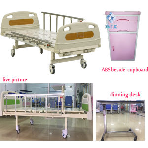 Mechanical Hand Operating Adjustable Hospital Bed pictures & photos