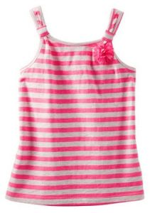 Striped Bow Tank Kid′s T-Shirt Vest Tank Kid Wear G25