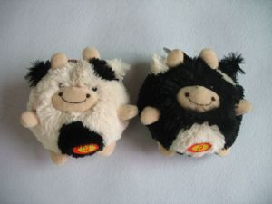 Ball Dog Toy Plush Pet Cow with Squeaker pictures & photos