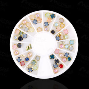 Nails Alloy Pearl Colourl Shiny Pearl Flat Base Nail Art Decoration
