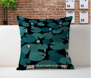 Printed Cushion Cover, Cushion, Back Pillow Made of Linen/Cotton Fabric pictures & photos
