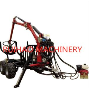 Tractor UTV Log Timber Trailer with Wood Claw Clip for Woodworking Machine