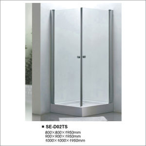 Transparent Two-Door Glass Shower Cubicles 800*800*1950 pictures & photos