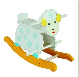 Wooden Baby Chair Sheep Rocker for Kids and Children pictures & photos