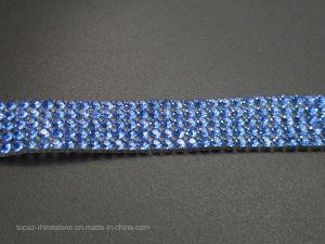 2cm Lt Sapphire T-Shirt Transfer Rhinestones Trim Iron on Diamond Chain (TS-044) pictures & photos