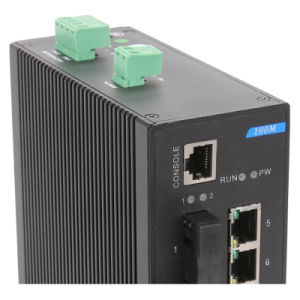4 Fiber and 2 Gigabit SFP Industrial Ethernet Network Switch pictures & photos