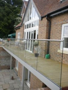 12mm Tempered Glass Side Mount Railing System pictures & photos